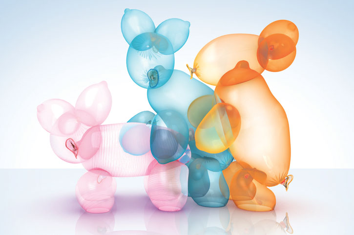 Ballon animals having sex